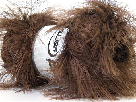 supersoft fur brown eyelash yarns yarns yarn