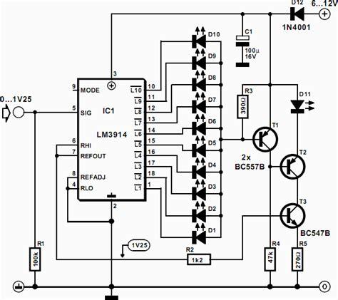 led temperature indicator circuit lm3914 led temperature indicator circuit lm3914 28 images led thermometer for temperature