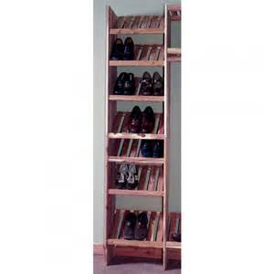 cedar shoe cubby kit deluxe solid cedar closet