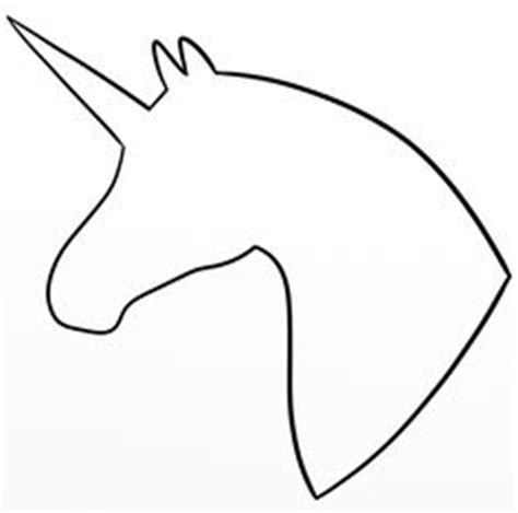 printable unicorn stencil unicorn head pattern use the printable outline for crafts