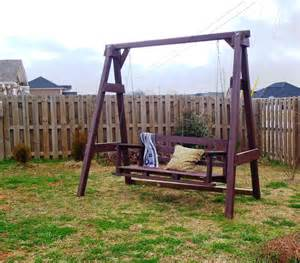 white swing set diy projects