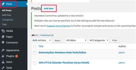 cara membuat posting di blog wordpress cara membuat jadwal posting di wordpress dengan mudah