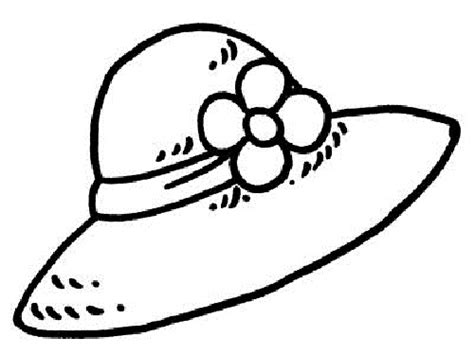printable hat coloring page free coloring pages of girls hat