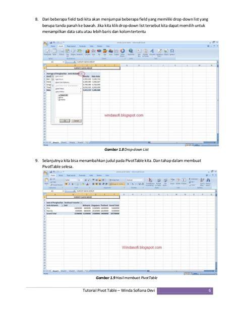 tutorial pivot table tutorial pivot table