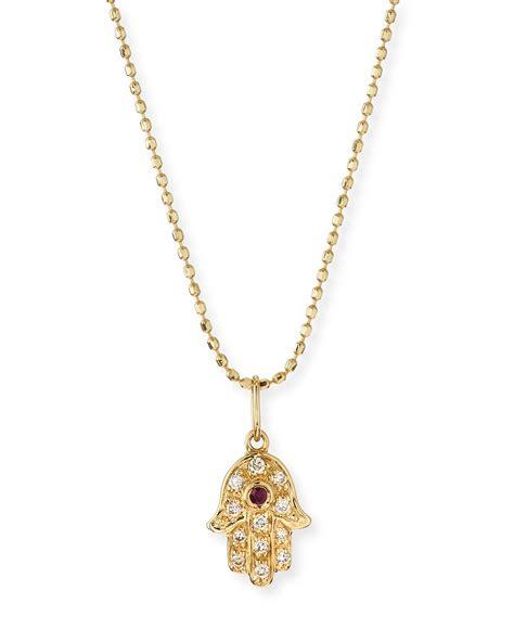 hama necklace sydney evan 14k gold hamsa pendant necklace in