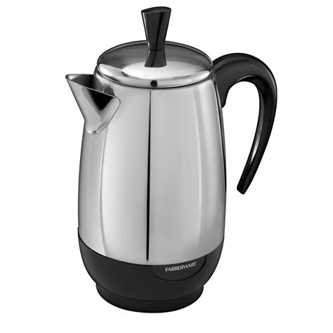 Electric Coffee Percolator 8 Cup Percolator   Farberware Stainless Steel Percolator FCP280