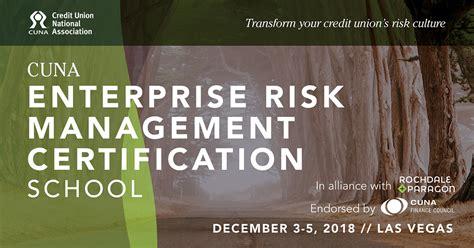 cuna risk management cuna erm certification school set for las vegas 2018 08