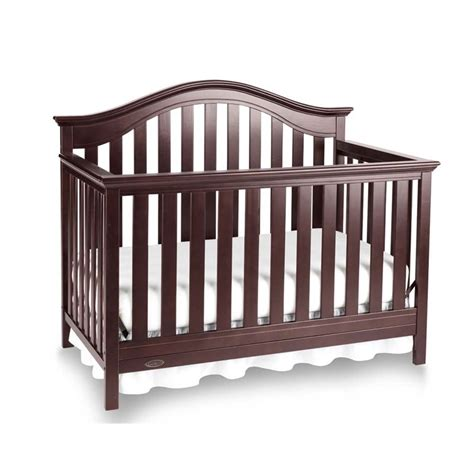 Graco Bryson 4 In 1 Convertible Crib In Espresso 04540 679 Graco Convertible Crib Toddler Rail