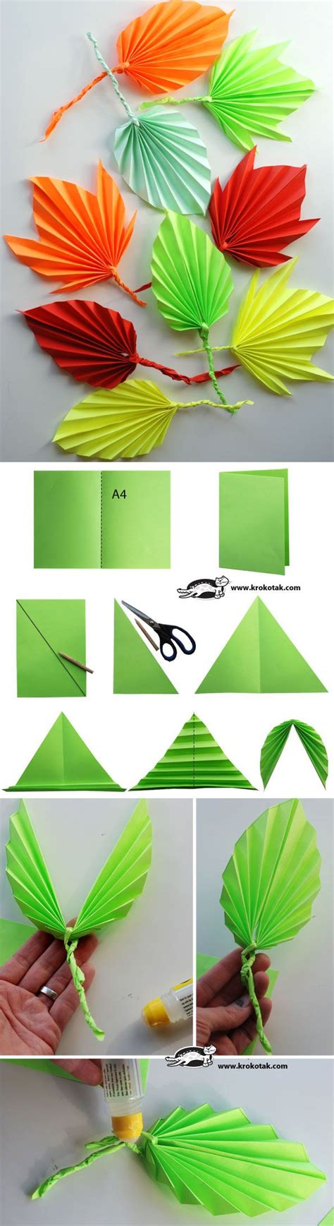 Make Paper Leaves - 25 best ideas about paper leaves on felt
