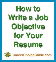 How To Write Career Objective In Resume by Resume Objectives Writing Tips And Sles