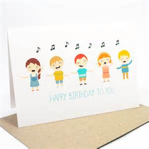 happy birthday card singing happy birthday hbc169 - Singing Birthday Cards For Children