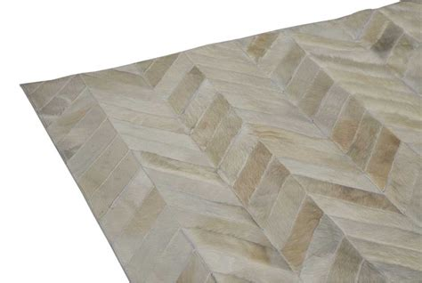 white cowhide patchwork rug white cowhide patchwork rug chevron design shine rugs