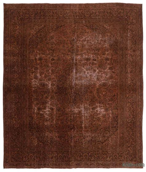 K0020107 Brown Over Dyed Persian Vintage Rug Overdyed Rugs