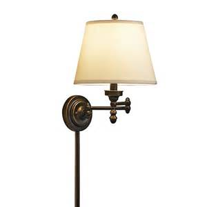 allen roth 15 62 in h rubbed bronze swing arm wall