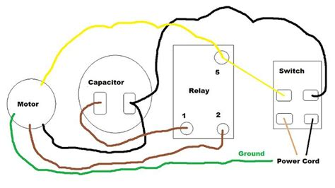 ac motor run capacitor wiring electric motor wiring schematic