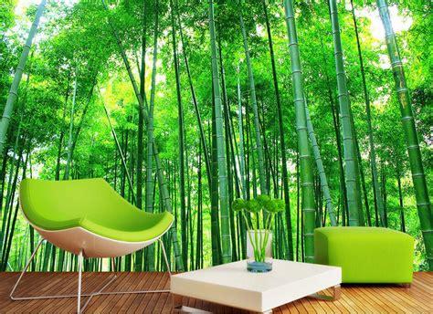 Wallpaper Import Motif Bambu Kecil wallpaper dinding ruang tamu motif hutan bambu nirwana