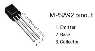 Mpsa92 Mpsa 92 mpsa92 p n p transistor complementary npn replacement pinout pin configuration substitute