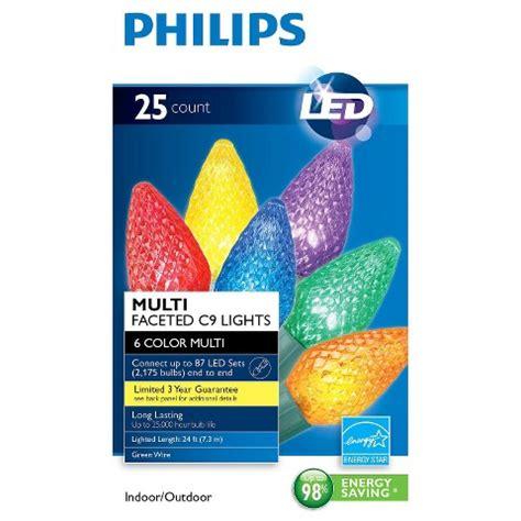 philips led faceted c9 string lights