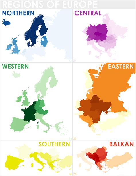 regionale europea regions of europe as defined by overlaying maps