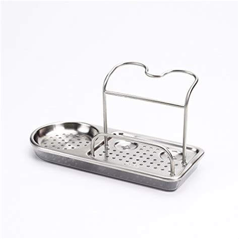 kitchen sink soap and sponge holder kitchen storage stainless steel organizer rack soap sponge