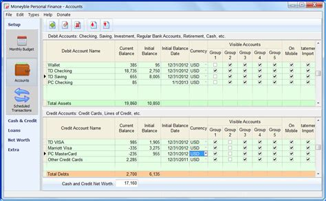 sle personal financial statement exle moneyble personal finance