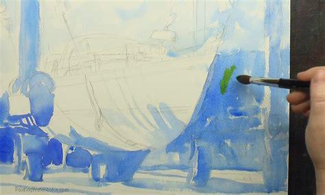 boatyard paint hinckley boatyard watercolor painting tutorial