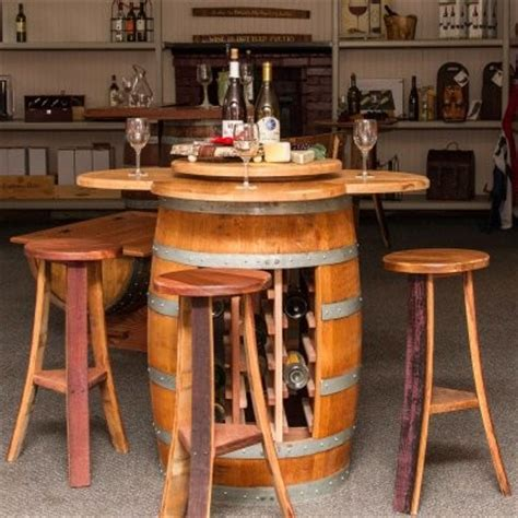 Counter Height Dining Table With Wine Rack by Napa East Wine Barrel 5 Counter Height Table Set