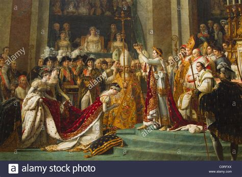 louvre paintings musee du louvre louvre museum paintings painting of coronation of napoleon in a museum musee du louvre stock photo royalty free image