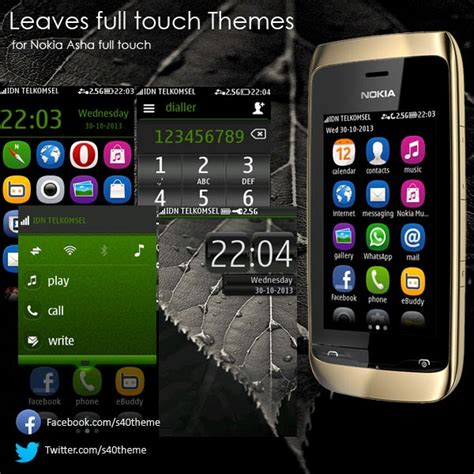 themes of nokia asha 305 leaves theme for nokia asha full touch asha 311 asha 305