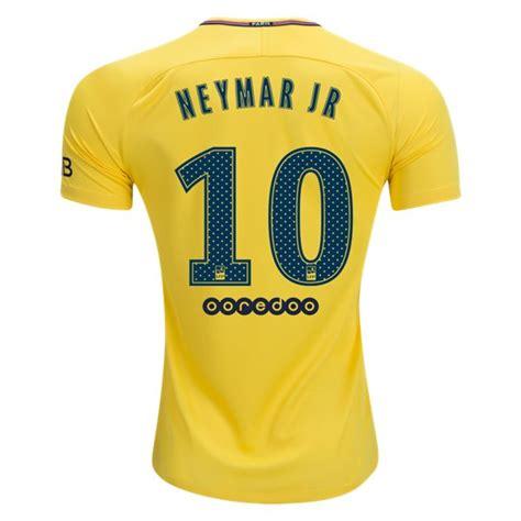 T Shirt Neymar White germain away football shirt 17 18 soccerlord
