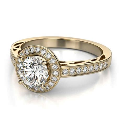 wedding vintage style engagement rings yellow gold ring