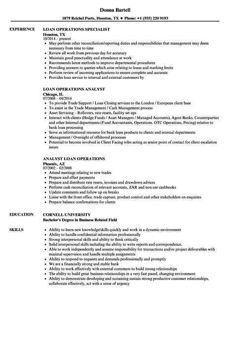 resume format for operations profile fixed income operations analyst description create