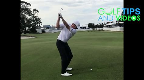 jimmy walker golf swing jimmy walker golf swing in slow motion from down the line