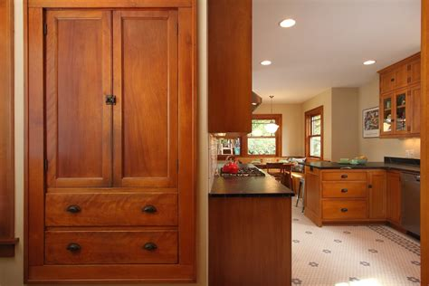 Craftsman Style Built In Cabinets by Craftsman Style Cabinets Kitchen With Built In Backless