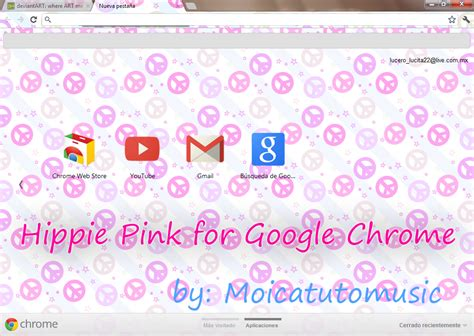 themes google chrome pink hippie pink theme for google chrome by moicatutomusic on