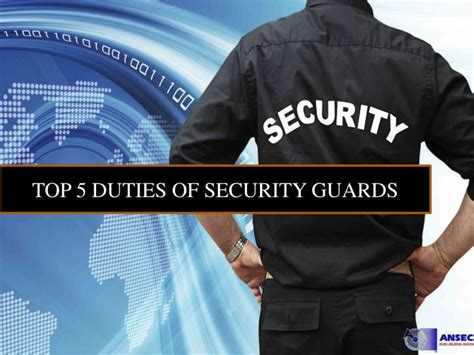 ppt top 5 duties of security guard powerpoint