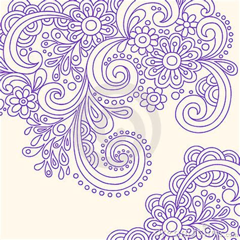 free vector doodle swirls doodle henna abstract swirls vector royalty free stock