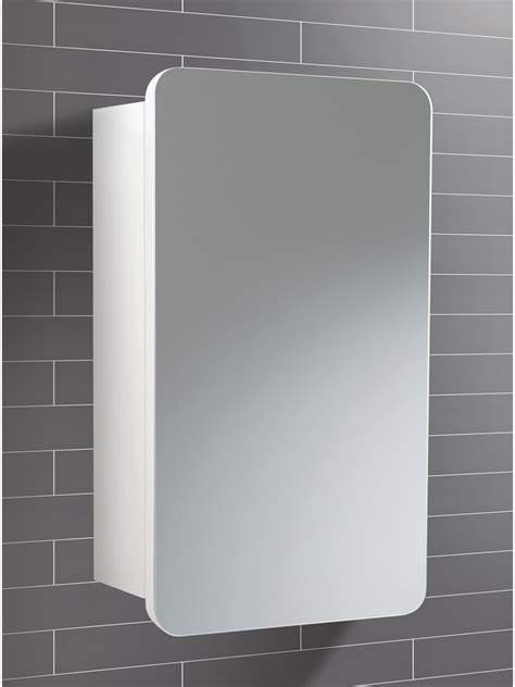 Bathroom Cabinets Mirrored Doors Hib Montana Single Door Bathroom Mirrored Cabinet 350 X 570mm 9101100