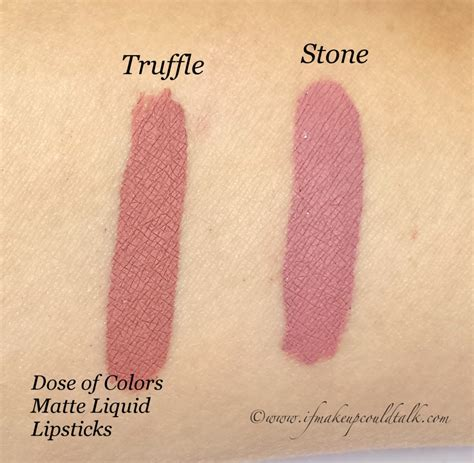 Dose Of Colors Lipgloss Petals dose of colors truffle and matte liquid lipstick