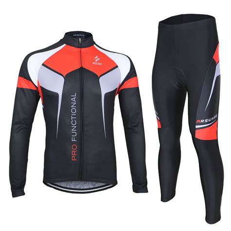 arsuxeo cycling clothing set breathable autumn