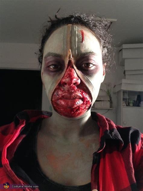 zombie zipper tutorial zipper face zombie costume photo 2 3