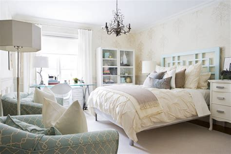 beige blue modern bedroom contemporary emerald