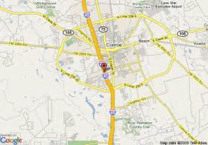 map of conroe map of conroe days inn conroe