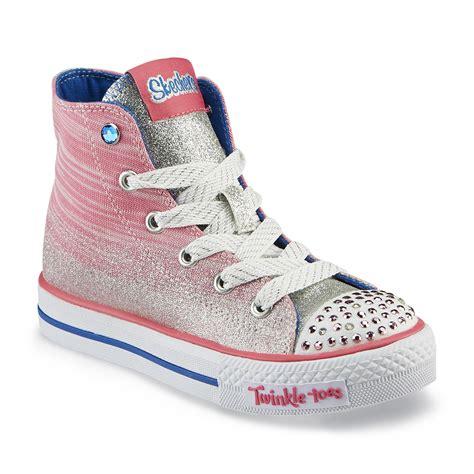 skechers high heels sneakers skechers s twinkle toes splendorific pink high top