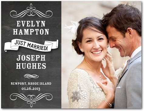 Wedding Announcements Postcards by Chalk Finish Wedding Announcement Postcards In White