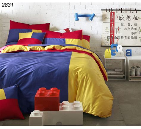 yellow and red comforter sets blue yellow red triple colors bedding set 3pcs 4pcs bed