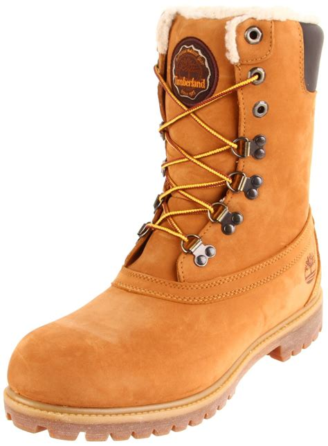 timberland snow boots mens timberland mens winter lug boot in beige for wheat