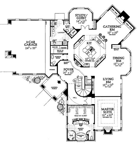 amazing floor plans truly amazing kitchen hwbdo02226 european house plan