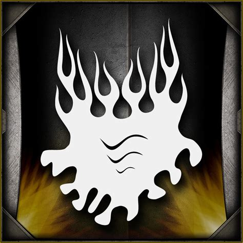 quot flames 10 quot airbrush stencil template airsick ebay