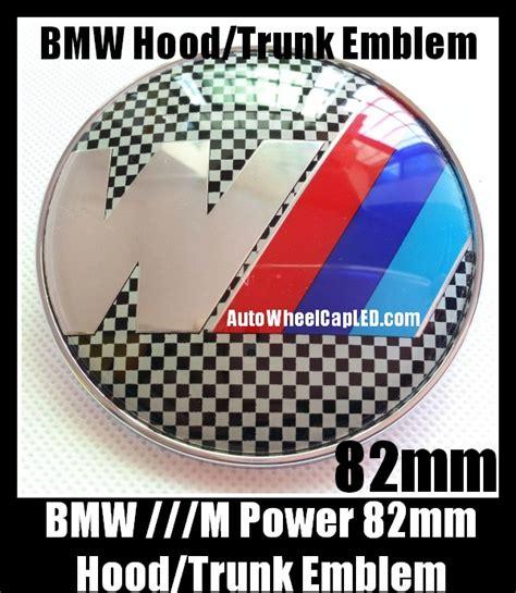 Emblem Stir Bmw M Power 45mm bmw m power black white squares emblem 82mm trunk